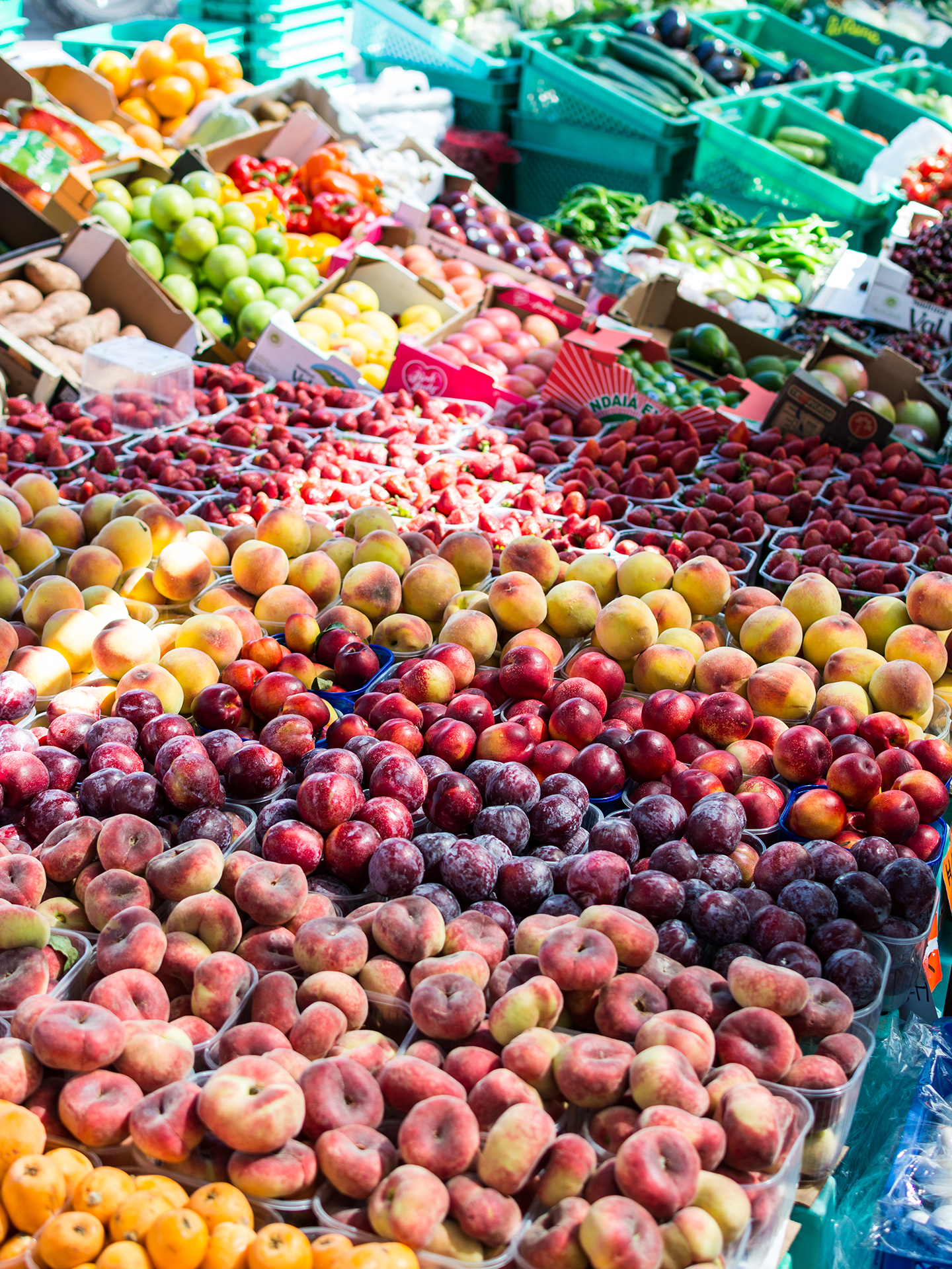 Fruit stand full of food